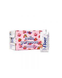 Flow Alkaline Spring Water Strawberry & Rose 12x500ml