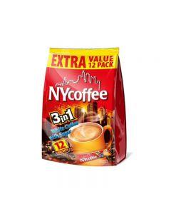 NY 3-in-1 White Coffee Sugar Sachets 12pck